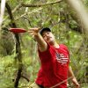 Andy Newberry, Wichita Falls, Texas, hooks a shot from heavy brush during the Kenneth Brent Edwards Memorial disc golf tournament in Norman on Saturday, July 7, 2012, in Norman, Okla. Photo by Steve Sisney, The Oklahoman