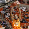 Oklahoma State\'s Michael Cobbins (20) dunks the ball during an NCAA college basketball game between the Oklahoma State University Cowboys (OSU) and the University of Texas-San Antonio Roadrunners at Gallagher-Iba Arena in Stillwater, Okla., Wednesday, Nov. 16, 2011. Photo by Bryan Terry, The Oklahoman