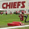 In this Wednesday, May 19, 2010 photo, Kansas City Chiefs football players work out during an NFL football mini camp at the team\'s practice facility in Kansas City, Mo. Police say a 25-year-old Kansas City Chiefs player was involved in two shootings Saturday, Dec. 1, 2012, one of which occurred in the parking lot near Arrowhead Stadium. (AP Photo/Orlin Wagner)