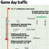 Photo - UNIVERSITY OF OKLAHOMA / OU / COLLEGE FOOTBALL / SPRING GAME / MAP / GRAPHIC: Game day traffic