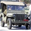 Air Force veteran Tim Kline drives his 1943 Ford Jeep with his 8yr old granddaughter Haileigh Combs during the 45th Infantry Museum\'s Veteran\'s Day ceremony in Oklahoma City , Friday November, 11, 2011. Photo by Steve Gooch