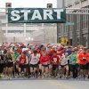 Runners begin the SandRidge Santa Run in downtown Oklahoma City, OK, Saturday, December 8, 2012, By Paul Hellstern, The Oklahoman