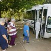 Residents of Oklahoma Christian Apartments board the bus in Edmond to go shopping Monday, August 3, 2009. Photo by Paul B. Southerland, The Oklahoman