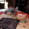 HE\'S A BOY....Bandanas and badges were on the table. (Photo by Helen Ford Wallace).
