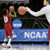 OU\'s Danielle Robinson lines up a shot during practice in Kansas City, Mo., on Saturday, March 27, 2010. The University of Oklahoma will play Notre Dame in the Sweet 16 round of the NCAA women\'s basketball tournament on Sunday. Photo by Bryan Terry, The Oklahoman