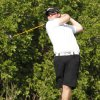 Blanchard\'s Matt Dewberry tees off during a boys high school 4A golf tournament at Lake Hefner Golf Course in Oklahoma City, OK, Monday, May 9, 2011. By Paul Hellstern, The Oklahoman