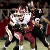 Wynnewood\'s Curtis Rushing (12) carries against Wayne\'s defense in high school Football on Friday, Oct. 26, 2012 in Wayne, Okla. Photo by Steve Sisney, The Oklahoman