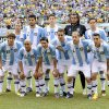 Argentina poses for a team photo before an international friendly soccer match against Brazil Saturday, June 9, 2012, in East Rutherford, N.J. (AP Photo/Bill Kostroun)