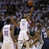 Oklahoma City\'s Kevin Durant (35) catches a pass during Game 5 in the second round of the NBA playoffs between the Oklahoma City Thunder and the Memphis Grizzlies at Chesapeake Energy Arena in Oklahoma City, Wednesday, May 15, 2013. Photo by Bryan Terry, The Oklahoman