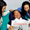 In this photo released Friday, Feb. 15, 2013 by Miraflores Presidential Press Office, Venezuela\'s President Hugo Chavez, center, poses for a photo with his daughters, Maria Gabriela, left, and Rosa Virginia as he holds a copy of Cuba\'s state newspaper Granma at an unknown location in Havana, Cuba, Thursday, Feb. 14, 2013. Chavez remains in Havana undergoing unspecified treatments following his fourth cancer-related operation on Dec. 11. He has hasn\'t been seen or spoken publicly in more than two months. (AP Photo/Miraflores Presidential Press Office)