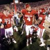 Kenny Stills, center, dances with teammates after beating Oklahoma State on Saturday in Bedlam. If the Sooners beat TCU on Saturday and finish tied with Kansas State in the Big 12 standings, OU and Kansas State would be co-champions. Photo by Steve Sisney, The Oklahoman