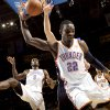 Oklahoma City\'s Jeff Green (center) Serge Ibaka, Eric Maynor and Nick Collison combine to chase down a loose ball against Atlanta during their NBA basketball game at the OKC Arena in Oklahoma City on Friday, Dec. 31, 2010. The Thunder beat the Hawks 103-94. Photo by John Clanton, The Oklahoman