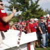 Fans take photos of the Sooner Schooner before the college football game between the University of Oklahoma Sooners (OU) and the Tulsa University Hurricanes (TU) at the Gaylord Family-Memorial Stadium on Saturday, Sept. 3, 2011, in Norman, Okla. Photo by Bryan Terry, The Oklahoman