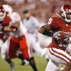 Oklahoma\'s Dominique Franks (15) returns an interception for a touchdown during the first half of the college football game between the University of Oklahoma Sooners (OU) and the University of Nebraska Huskers (NU) at the Gaylord Family-Oklahoma Memorial Stadium, on Saturday, Nov. 1, 2008, in Norman, Okla. BY NATE BILLINGS, THE OKLAHOMAN