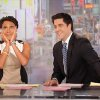 "Photo -   This image released by ABC shows ""Good Morning America"" co-host Robin Roberts, left, and co-host Josh Elliott on the popular morning show on Thursday, Aug. 30, 2012 in New York. Roberts has said goodbye to ""Good Morning America,"" but only for a while. The ""GMA"" anchor made her final appearance Thursday before going on medical leave for a bone marrow transplant. Roberts' departure was first planned for Friday, but she chose to exit a day early to visit her ailing mother in Mississippi. In July she first disclosed that she has MDS, a blood and bone marrow disease. She will be hospitalized next week to prepare for the transplant. The donor will be her older sister, Sally-Ann Roberts. (AP Photo/ABC, Fred Lee)"
