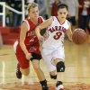 Washington\'s Amber Madden, right, tries to get past Kingston\'s Mikayla Wells during a girls high school basketball game in Washington, Okla., Friday, Feb. 17, 2012. Photo by Bryan Terry, The Oklahoman