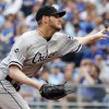 Photo - Chicago White Sox starting pitcher Chris Sale delivers to a Kansas City Royals batter during the first inning of a baseball game at Kauffman Stadium in Kansas City, Mo., Sunday, April 6, 2014. (AP Photo/Orlin Wagner)