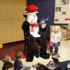 The Cat in the Hat, played by teacher Dustin Pester, reads to children at Primrose Elementary School in Oklahoma City, OK, as they hold a celebration Monday, March 2, 2009, to honor the 105 birthday of Dr. Seuss. The celebration is part of their Read Across America program. BY PAUL HELLSTERN, THE OKLAHOMAN