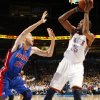 Oklahoma City\'s Kevin Durant (35) shoots over Tayshaun Prince (22) of Detroit during the NBA basketball game between the Detroit Pistons and Oklahoma City Thunder at the Chesapeake Energy Arena in Oklahoma City, Monday, Jan. 23, 2012. Photo by Nate Billings, The Oklahoman