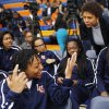 Women\'s basketball great Cheryl Miller talks to her team before the beginning of a press conference where she was introduced as the head coach of Langston\'s women\'s basketball program on Tuesday, April 29, 2014 Photo by KT King, The Oklahoman