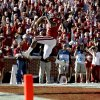 OU\'s DeMarco Murray (7) celebrates a touchdown during the second half of the Bedlam college football game between the University of Oklahoma Sooners (OU) and the Oklahoma State University Cowboys (OSU) at the Gaylord Family -- Oklahoma Memorial Stadium on Saturday, Nov. 28, 2009, in Norman, Okla. Photo by Sarah Phipps, The Oklahoman