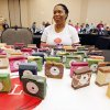 Janine Archie shows her colorful hand-made soaps during the Made in Oklahoma Festival at the Reed Conference Center in Midwest City, OK, Saturday, May 31, 2014, Photo by Paul Hellstern, The Oklahoman