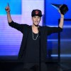 FILE - In this Nov. 18, 2012 file photo, Justin Bieber accepts the award for favorite album - pop/rock for