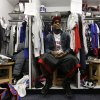 Buffalo Bills wide receiver Stevie Johnson sites in a locker as Bills players clean out their lockers at the NFL football team\'s practice facility, Monday, Dec. 31, 2012, in Orchard Park, N.Y. Buffalo finished the season 6-10. (AP Photo/Mike Groll)