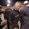 Texas Tech head coach Tommy Tuberville is all smiles as he leaves the field after the college football game between the University of Oklahoma Sooners (OU) and Texas Tech University Red Raiders (TTU) at the Gaylord Family-Memorial Stadium on Sunday, Oct. 23, 2011. in Norman, Okla. Tech won 41-38. Photo by Steve Sisney, The Oklahoman