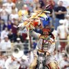 Photo - Fsu/Miami -- October 9, 1999-- Chief Osceola performs at the begining of the Florida State - Miami football game.  please credit The Orlando Sentinel