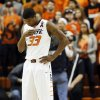 Oklahoma State\'s Marcus Smart (33) crosses himself during a pre-game ritual before a men\'s college basketball game between Oklahoma State University (OSU) and the University of Texas at Gallagher-Iba Arena in Stillwater, Okla., Saturday, March 2, 2013. Photo by Nate Billings, The Oklahoman