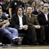 FILE - In this Dec. 26, 2009, file photo, from left, brothers Phil, George, Gavin and Joe Maloof, co-owners of the Sacramento Kings, watch an NBA basketball game in Sacramento, Calif. After backing out of the deal to build a new arena in Sacramento and announcing the sale of the Kings to a group that wants to move the team to Seattle, the brothers have become the city\'s most-reviled villains heading into a preliminary NBA meeting on the issue Wednesday, April 3, 2013, in New York. (AP Photo/Rich Pedroncelli, File)