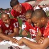 From left: Andre Woolfolk, Ryan Daniel, Curtis Fagan and Damian Mackey.during OU\'s 2000 media day. OKLAHOMAN ARCHIVE PHOTO
