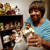 Photo - Willie Jean Yarbrough's collection of about 300 angels was shattered by the May 31 tornado and then another storm. But she says the loss has only strengthened her faith.  PHOTO BY STEVE SISNEY, THE OKLAHOMAN  <strong>STEVE SISNEY</strong>