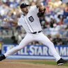 FILE - In this July 10, 2012 file photo, American League\'s Justin Verlander, of the Detroit Tigers, delivers against the National League during the first inning of the MLB All-Star baseball game in Kansas City, Mo. Verlander and David Price are among the finalists for this year\'s AL Cy Young Award, Wednesday, Nov. 14, 2012. (AP Photo/Jeff Roberson, File)
