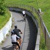 Photo - This photo taken July 4, 2014, shows bicyclists on the Tony Know Coastal Trail in downtown Anchorage, Alaska. The trail is among some of the free activities for people to do while waiting to catch a flight home after an Alaska cruise.  (AP Photo/Mark Thiessen)