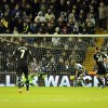 Photo - Chelsea's Branislav Ivanovic, far left, scores against West Brom during the English Premier League soccer match between West Bromwich Albion and Chelsea at The Hawthorns Stadium in West Bromwich, England, Tuesday, Feb. 11, 2014.  (AP Photo/Rui Vieira)