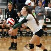 GIRLS HIGH SCHOOL VOLLEYBALL / MOUNT ST. MARY\'S: Catoosa\'s Bailee Muller volleys the ball during the first round of the Class 4A state volleyball tournament between Mt. St. Mary\'s High School and Catoosa High School at Westmoore High School in Moore, OK, Friday, October 11, 2013, Photo by Paul Hellstern, The Oklahoman