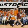 Minnesota\'s Sonny Yohn lifts Oklahoma State\'s Blake Rosholt during the NWCA National Duals championship wrestling at Gallagher-Iba Arena in Stillwater, Okla., Sunday, Feb. 19, 2012. Minnesota won the dual 18-13. Photo by Bryan Terry, The Oklahoman