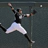 Photo - Chicago White Sox right fielder Avisail Garcia can't catch up to a double by Oakland Athletics' Daric Barton in the second inning of a spring exhibition baseball game Tuesday, March 18, 2014, in Glendale, Ariz. (AP Photo/Mark Duncan)