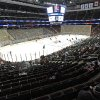 Photo - The New Jersey Devils and St. Louis Blues play to a sparse crowd during the first period of an NHL hockey game Tuesday, Jan. 21, 2014, in Newark, N.J. The sparse crowd was due to a snowstorm. (AP Photo/Bill Kostroun)
