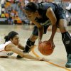 Oklahoma State\'s Brittney Martin (22) goes for the ball under Baylor\'s Brooklyn Pope (32) during a women\'s college basketball game between Oklahoma State University and Baylor at Gallagher-Iba Arena in Stillwater, Okla., Saturday, Feb. 2, 2013. Photo by Bryan Terry, The Oklahoman