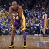Los Angeles\' Kobe Bryant (24) reacts to a play during Game 1 in the second round of the NBA playoffs between the Oklahoma City Thunder and the L.A. Lakers at Chesapeake Energy Arena in Oklahoma City, Monday, May 14, 2012. Photo by Sarah Phipps, The Oklahoman