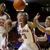 Oklahoma\'s Buddy Hield (3) goes for the ball beside Stephen F. Austin\'s Jacob Parker, left, and Thomas Walkup as Oklahoma\'s Amath M\'Baye (22) watches during a college basketball game between the University of Oklahoma (OU) and Stephen F. Austin University at the Lloyd Noble Center in Norman, Okla., Tuesday, Dec. 18, 2012. Oklahoma lost 56-55. Photo by Bryan Terry, The Oklahoman