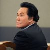 "Photo - FILE - This July 30, 2012 file photo shows entertainer Wayne Newton in court in Las Vegas. The sign outside the sprawling Newton estate in southeast Las Vegas says ""For Sale.""  Even if Casa de Shenandoah sells, the Newtons say their lease lets them stay in the three homes on the property.  (AP Photo/Las Vegas Review-Journal, David Becker, file)"