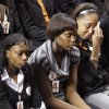 Members of the Oklahoma State women\'s basketball team attend the memorial service for Oklahoma State head basketball coach Kurt Budke and assistant coach Miranda Serna at Gallagher-Iba Arena on Monday, Nov. 21, 2011 in Stillwater, Okla. The two were killed in a plane crash along with former state senator Olin Branstetter and his wife Paula while on a recruiting trip in central Arkansas last Thursday. Photo by Chris Landsberger, The Oklahoman