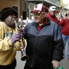 Doreen J. Ketchens with the Doreen\'s Jazz plays Happy Birthday to Oklahoma fan Jerry Kendall, great uncle to OU player Blake Bell, in the French Quarter, Thursday, Jan. 2, 2014 in New Orleans. Photo by Sarah Phipps, The Oklahoman