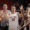 Oklahoma\'s Jelena Cerina (12) is introduced during senior day following the women\'s college basketball game between the Oklahoma Sooners and the Kansas Jayhawks at the LLoyd Noble Center in Norman, Okla., Sunday, March, 4, 2011. Photo by Sarah Phipps, The Oklahoman