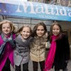 Photo - FILE - This Nov. 15, 2012 file photo shows, from left, Milly Shapiro, Sophia Gennusa, Oona Laurence and Bailey Ryon posing for a portrait outside the Shubert Theatre in New York. The four young actresses share the title role in