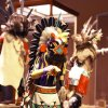 A kachina doll is on display in the